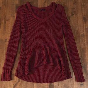 Super Soft American Eagle Wine Sweater Size XS